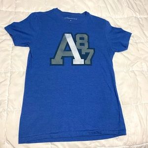 Aeropostale A87 Graphic Men's Small Tee in Blue